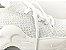 Tênis Chunky Sneaker Branco com Brilho em Tecido Solado 5 cm - Imagem 4