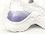 Tênis Chunky Sneaker Branco com Brilho em Tecido Solado 5 cm - Imagem 5