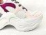 Tênis Chunky Sneaker Branco com Brilho Multicores Solado 5 cm - Imagem 5