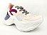 Tênis Chunky Sneaker Branco com Brilho Multicores Solado 5 cm - Imagem 3