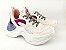 Tênis Chunky Sneaker Branco com Brilho Multicores Solado 5 cm - Imagem 9