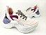 Tênis Chunky Sneaker Branco com Brilho Multicores Solado 5 cm - Imagem 1