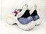 Tênis Chunky Sneaker Branco com Brilho Multicores Solado 5 cm - Imagem 7