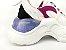 Tênis Chunky Sneaker Branco com Brilho Multicores Solado 5 cm - Imagem 4