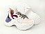 Tênis Chunky Sneaker Branco com Brilho Multicores Solado 5 cm - Imagem 8