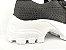 Tênis Chunky Sneaker Preto Trabalhado em Tecido Solado Tratorado 5 cm - Imagem 6