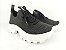 Tênis Chunky Sneaker Preto Trabalhado em Tecido Solado Tratorado 5 cm - Imagem 3