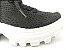 Tênis Chunky Sneaker Preto Trabalhado em Tecido Solado Tratorado 5 cm - Imagem 7