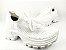 Tênis Chunky Sneaker Branco Trabalhado em Tecido Solado Tratorado 5 cm - Imagem 2