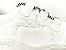 Tênis Chunky Sneaker Branco com Prata Solado Branco 6 cm - Imagem 9
