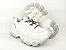 Tênis Chunky Sneaker Branco com Prata Solado Branco 6 cm - Imagem 6