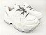 Tênis Chunky Sneaker Branco com Prata Solado Branco 6 cm - Imagem 7