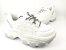 Tênis Chunky Sneaker Branco com Prata Solado Branco 6 cm - Imagem 1