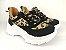 Tênis Chunky Sneaker Oncinha com Preto Solado Branco 5 cm - Imagem 9