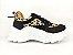 Tênis Chunky Sneaker Oncinha com Preto Solado Branco 5 cm - Imagem 2