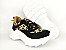 Tênis Chunky Sneaker Oncinha com Preto Solado Branco 5 cm - Imagem 7
