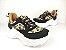 Tênis Chunky Sneaker Oncinha com Preto Solado Branco 5 cm - Imagem 1