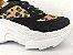 Tênis Chunky Sneaker Oncinha com Preto Solado Branco 5 cm - Imagem 3