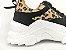 Tênis Chunky Sneaker Oncinha com Preto Solado Branco 5 cm - Imagem 6