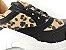 Tênis Chunky Sneaker Oncinha com Preto Solado Branco 5 cm - Imagem 5