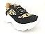 Tênis Chunky Sneaker Oncinha com Preto Solado Branco 5 cm - Imagem 4