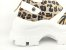 Tênis Chunky Sneaker Animal Print com Solado Branco 6 cm - Imagem 5