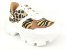 Tênis Chunky Sneaker Animal Print com Solado Branco 6 cm - Imagem 3