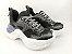 Tênis Chunky Sneaker Preto Clássico Solado Branco 5 cm - Imagem 1