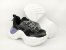 Tênis Chunky Sneaker Preto Clássico Solado Branco 5 cm - Imagem 9