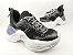 Tênis Chunky Sneaker Preto Clássico Solado Branco 5 cm - Imagem 2