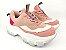 Tênis Chunky Sneaker Tons de Rosa e Rosê Solado Branco 6 cm - Imagem 2