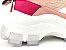 Tênis Chunky Sneaker Tons de Rosa e Rosê Solado Branco 6 cm - Imagem 5