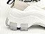 Tênis Chunky Sneaker Branco com Cinza Decorado Solado Branco 6 cm - Imagem 6