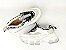 Tênis Chunky Sneaker Branco com Cinza Decorado Solado Branco 6 cm - Imagem 7