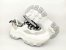 Tênis Chunky Sneaker Branco com Cinza Decorado Solado Branco 6 cm - Imagem 8