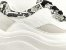 Tênis Chunky Sneaker Branco com Cinza Decorado Solado Branco 6 cm - Imagem 5