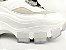 Tênis Chunky Sneaker Branco com Cinza Decorado Solado Branco 6 cm - Imagem 3