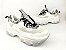 Tênis Chunky Sneaker Branco com Cinza Decorado Solado Branco 6 cm - Imagem 1