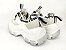 Tênis Chunky Sneaker Branco com Cinza Decorado Solado Branco 6 cm - Imagem 9