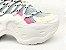 Tênis Chunky Sneaker Colorido Amarração Atrás Solado 5 cm - Imagem 5