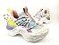 Tênis Chunky Sneaker Colorido Amarração Atrás Solado 5 cm - Imagem 10