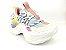 Tênis Chunky Sneaker Colorido Amarração Atrás Solado 5 cm - Imagem 2