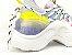 Tênis Chunky Sneaker Colorido Amarração Atrás Solado 5 cm - Imagem 4