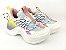 Tênis Chunky Sneaker Colorido Amarração Atrás Solado 5 cm - Imagem 1