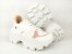 Tênis Chunky Sneaker Branco com Rosê Solado Branco 6 cm - Imagem 10