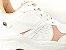 Tênis Chunky Sneaker Branco com Rosê Solado Branco 6 cm - Imagem 6