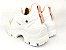 Tênis Chunky Sneaker Branco com Rosê Solado Branco 6 cm - Imagem 8