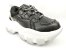 Tênis Chunky Sneaker Preto com Prata Solado Branco 6 cm - Imagem 3