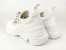 Tênis Chunky Sneaker Branco Têxtil Solado 5 cm - Imagem 7