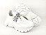 Tênis Chunky Sneaker Branco Têxtil Solado 5 cm - Imagem 9